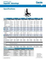 Genie Superlift - JW Hire & Sales Ltd