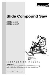 Makita - LS1214 - Electric Mitre Saw - JW Hire & Sales Ltd
