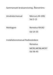 användarmanual mercury m-100j - Skanska