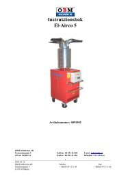 Instruktionsbok El-Airco 5