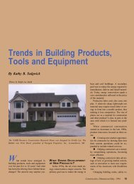 Trends in Building Products, Tools and Equipment - AWCI