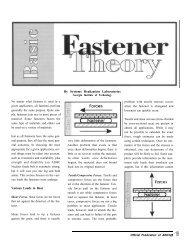 Basic Fastener Theory - AWCI