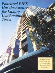 panelized EIFS Has the Answers for Luxury Condominium ... - AWCI