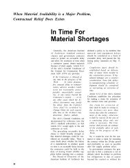 In Time For Material Shortages - AWCI