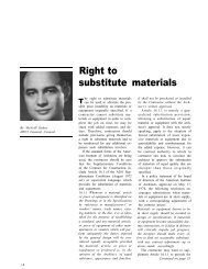 Right to Substitute Materials - AWCI