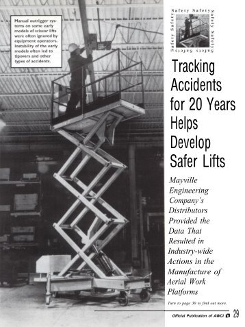 Tracking Accidents for 20 Years Helps Develop Safer Lifts - AWCI