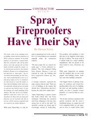 Spray Fireproofers Have Their Say -- Contractor Review - AWCI