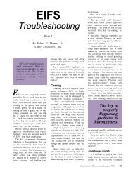 EIFS Troubleshooting, Part I - AWCI