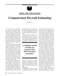 Computerized Drywall Estimating - AWCI