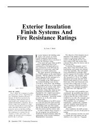 Exterior Insulation Finish Systems And Fire Resistance Ratings - AWCI