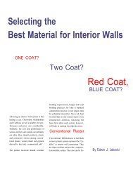 Selecting the Best Material for Interior Walls - AWCI