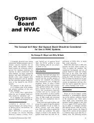 Gypsum Board and HVAC - AWCI