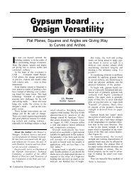 Gypsum Board . . . Design Versatility - AWCI
