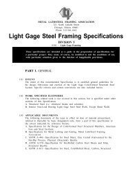 Light Gage Steel Framing Specifications - AWCI