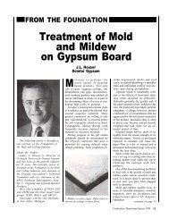 Treatment of Mold and Mildew on Gypsum Board - AWCI