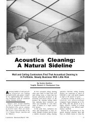 Acoustics Cleaning: A Natural Sideline - AWCI