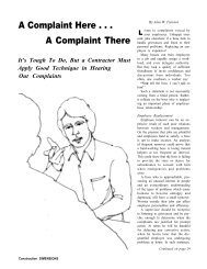 A Complaint Here . . . A Complaint There - AWCI