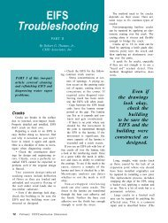 EIFS Troubleshooting, Part II - AWCI
