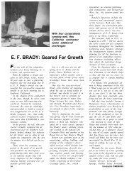 E. F. Brady: Geared For Growth - AWCI