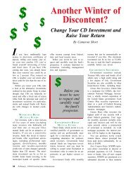 Change Your CD Investment and Raise Your Return - AWCI