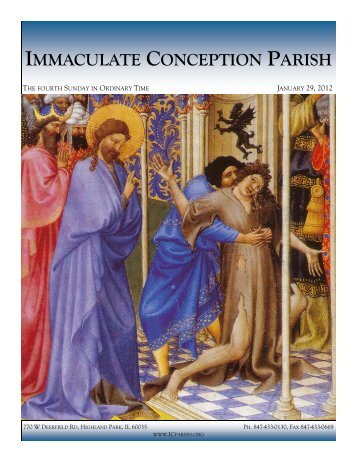 January 29, 2012: Fourth Sunday in Ordinary Time - Immaculate ...