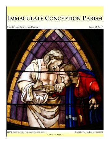 April 15, 2012: The Second Sunday of Easter - Immaculate ...