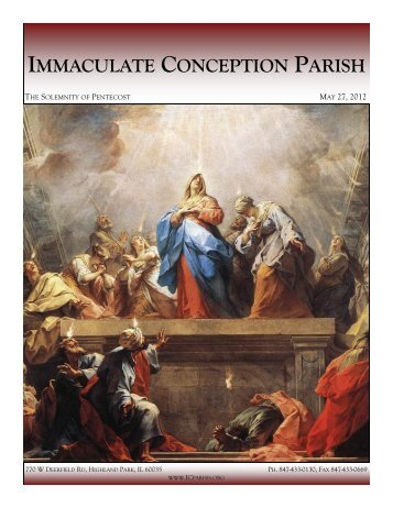May 27, 2012: The Solemnity of Pentecost - Immaculate Conception ...