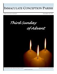 Third Sunday of Advent - Immaculate Conception Parish