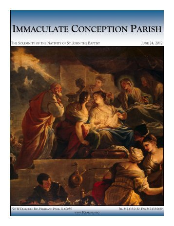 June 24, 2012 - Immaculate Conception Parish