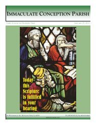 February 3, 2013: The Fourth Sunday in Ordinary Time - Immaculate ...