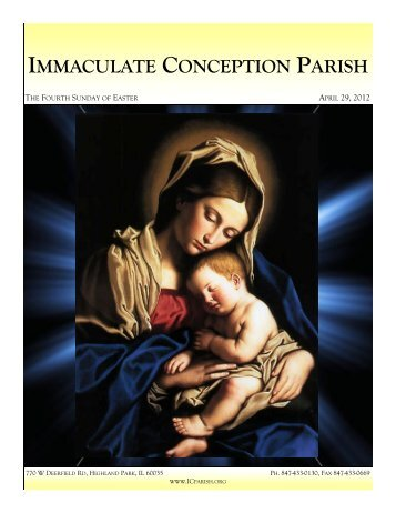 April 29, 2012: The Fourth Sunday of Easter - Immaculate ...