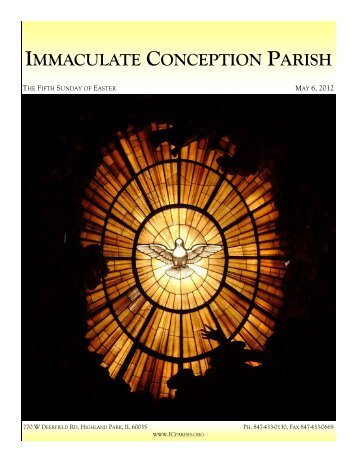 May 6, 2012: The Fifth Sunday of Easter - Immaculate Conception ...