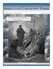 January 22, 2012: Third Sunday in Ordinary Time - Immaculate ...