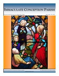 January 15, 2012: Second Sunday in Ordinary Time - Immaculate ...