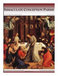 June 10, 2012: The Solemnity of Corpus Christi - Immaculate ...