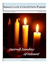 Second Sunday of Advent - Immaculate Conception Parish