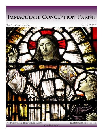 March 25, 2012: The Fifth Sunday of Lent - Immaculate Conception ...