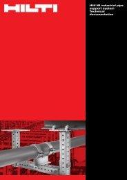 Hilti MI industrial pipe support system Technical ... - Motek