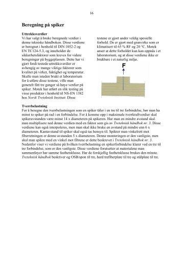 Beregning på spiker - Motek