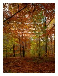 2001 Annual Report - City of New York - Parks and Recreation ...