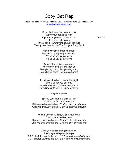 Download Lyrics - Jack Hartmann
