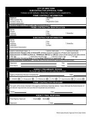 Subcontractor Approval Form - New York City Department of Parks ...