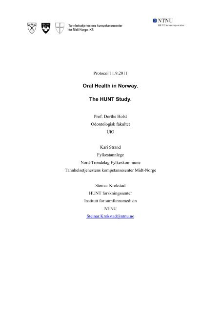 Oral Health in Norway. The HUNT Study.
