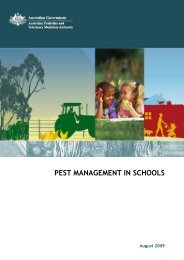 Pest Management in Schools - Australian Pesticides and Veterinary ...
