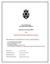 City of Pittsburgh City Information Systems Request for Proposal ...