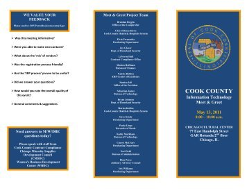 Day-of-Event Brochure - 376 KB - Cook County