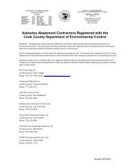 Asbestos Abatement Contractors Registered with the Cook County ...