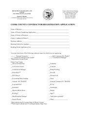 COOK COUNTY CONTRACTOR REGISTRATION APPLICATION