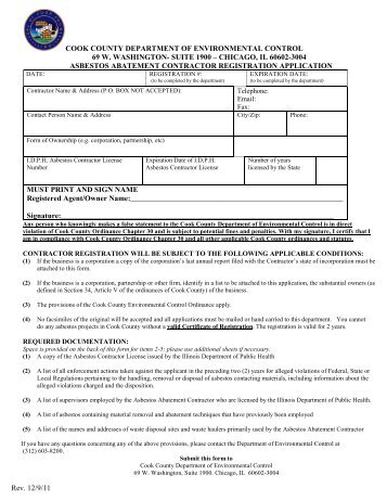 Registration Application - Cook County