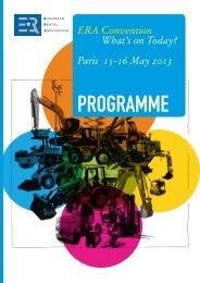 Paris 15-16 May 2013 - ERA European Rental Association